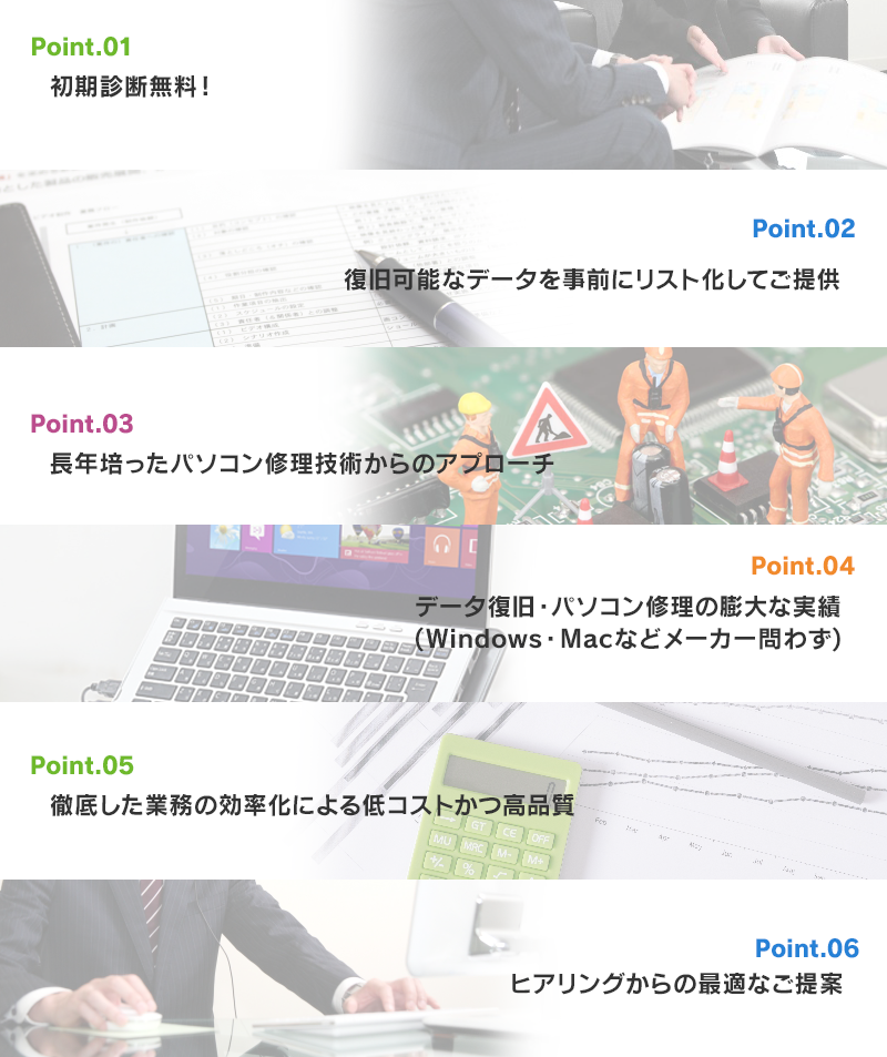 Point.01〜Point.06の説明