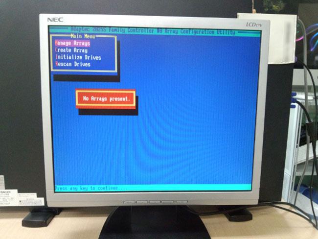 HA8000/70PD Adaptec アレイ管理画面